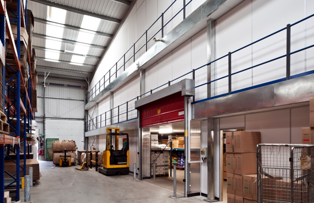 Rimmer Brothers Two Tier Mezzanine Warehouse Installation by APSS with Steel Partitions