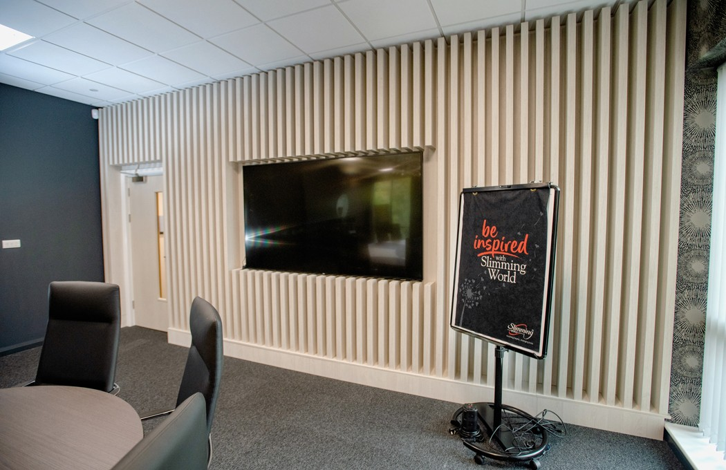 Slimming World Boardroom feature Joinery Wall By APSS