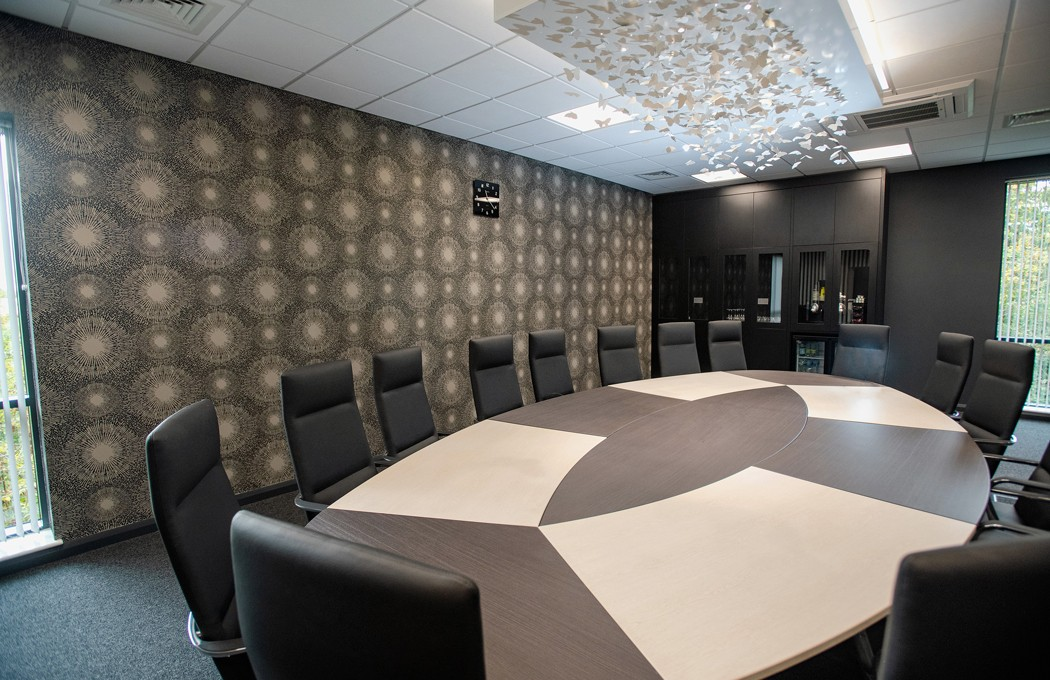 Slimming World Boardroom feature Joinery suspended ceiling By APSS